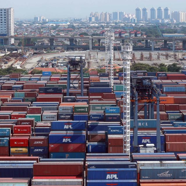 """Jakarta International Container Terminal"" stock image"