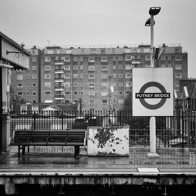"""Putney Bridge Station"" stock image"