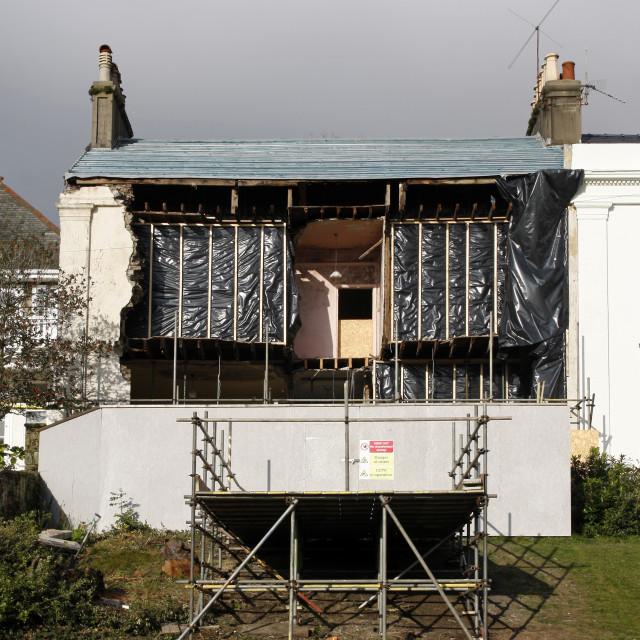 """""""Storm damaged house"""" stock image"""