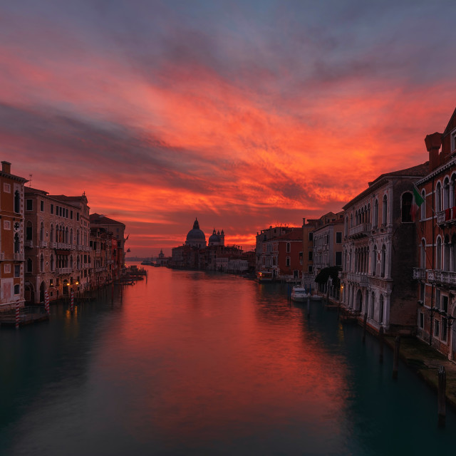 """Before Venice wakes up"" stock image"