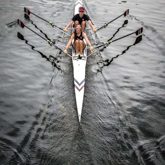 """Rowers"" stock image"