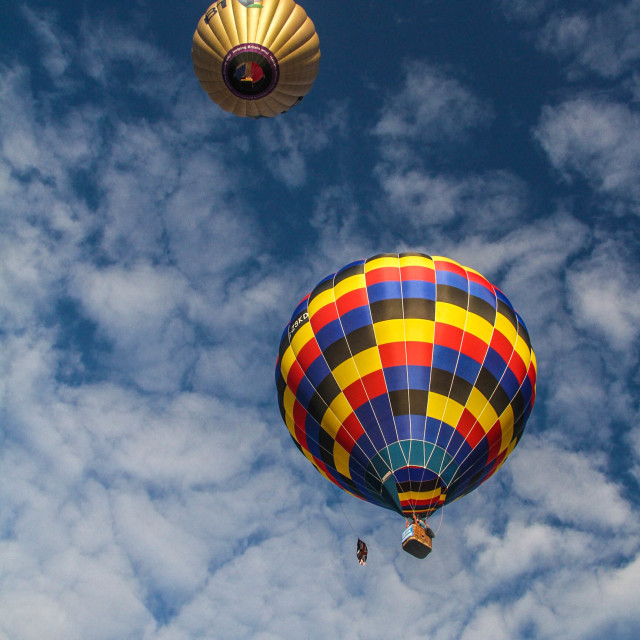 """Up, up and away"" stock image"