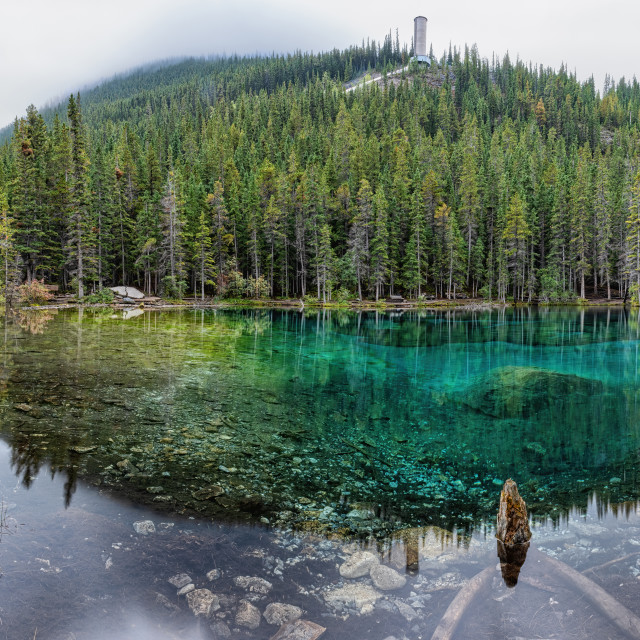 """Grassi Lakes Pano"" stock image"