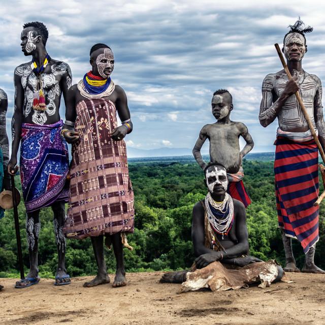 """""""Karo tribe in omo valley ethiopia"""" stock image"""