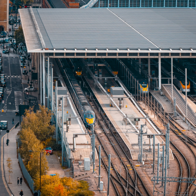 """King's Cross railway station in the London Borough of Camden"" stock image"
