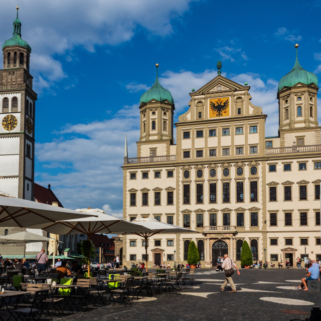 """summer in Augsburg"" stock image"