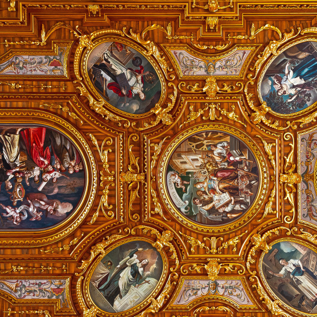 """the golden ceiling"" stock image"