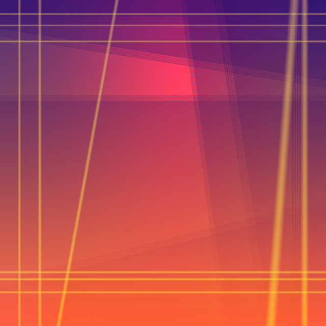 """Magenta purple blend with orange Geometric square background wit"" stock image"