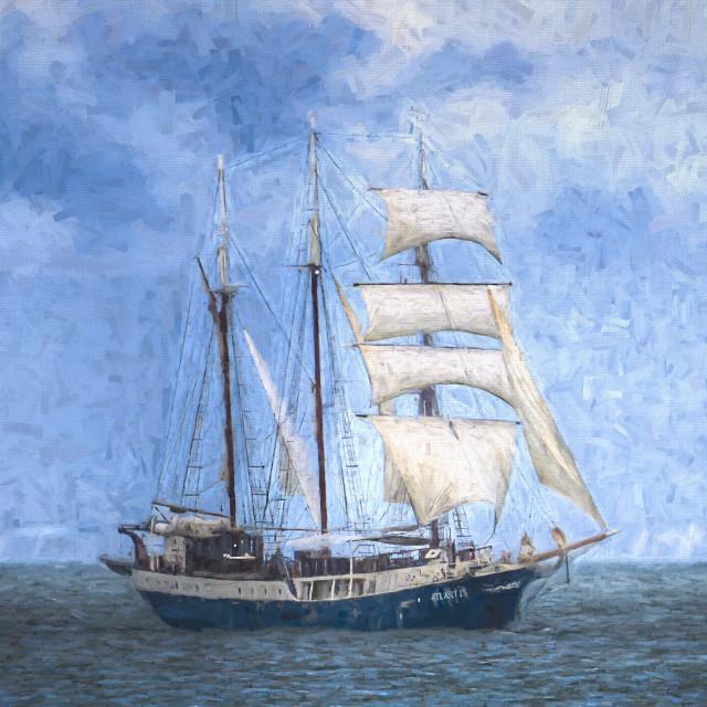 """Sailing Ship Edgar Degas"" stock image"