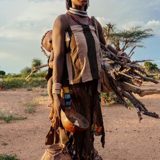 """Hamar tribe omo valley in ethiopia"" stock image"