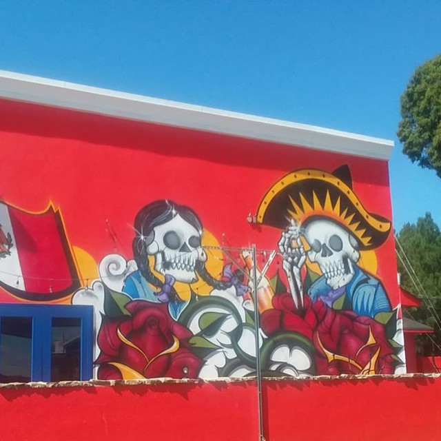 """""""Mural of Mexican Culture"""" stock image"""