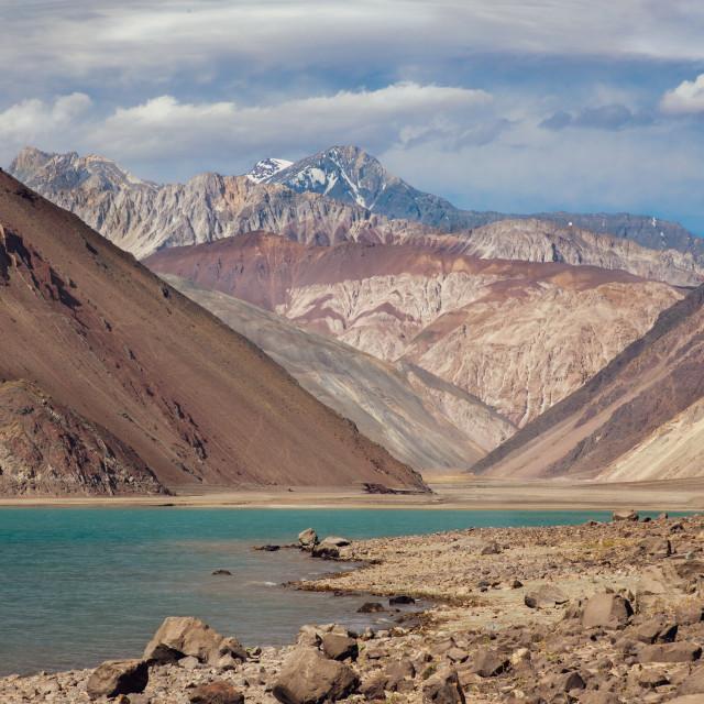 """El Yeso, near Santiago, Chile"" stock image"