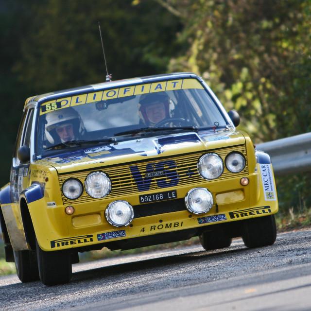 """Fiat 131 rally car"" stock image"
