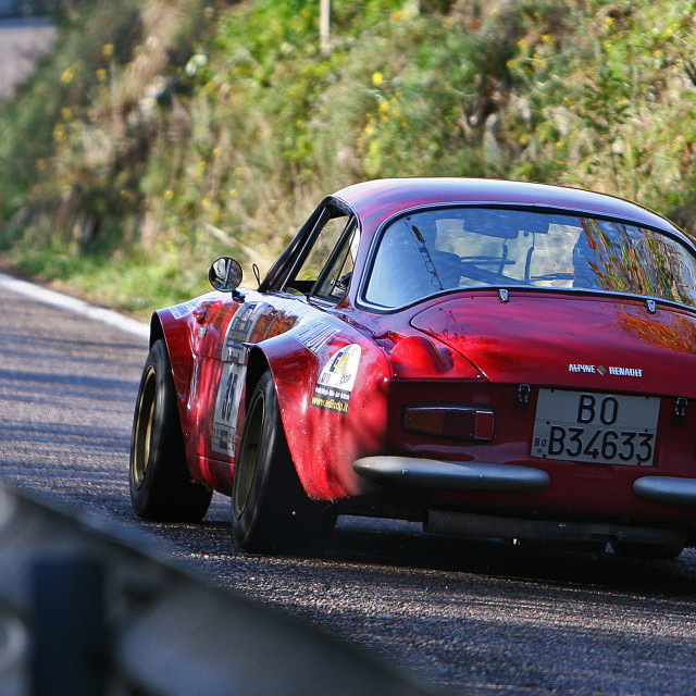"""Alpine rally car"" stock image"
