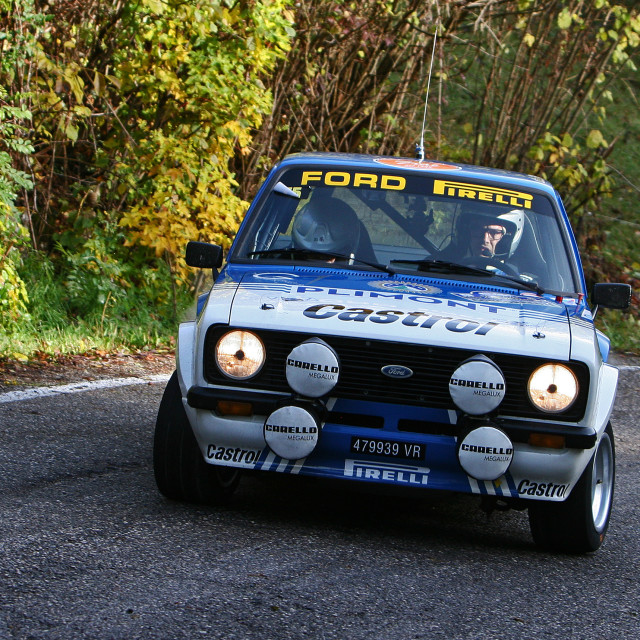 """""""Ford Escort MKII rally car"""" stock image"""