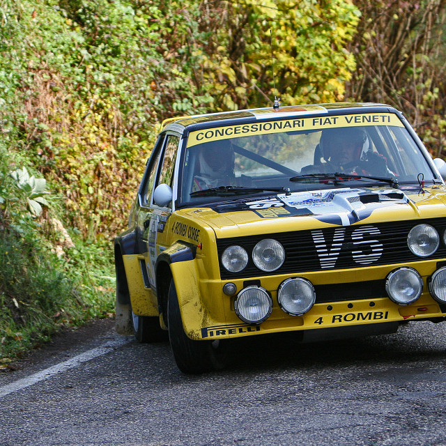 """""""The Fiat 131 Rally Car"""" stock image"""