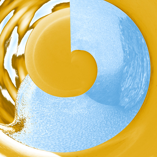 """""""yellow and blue abstract"""" stock image"""