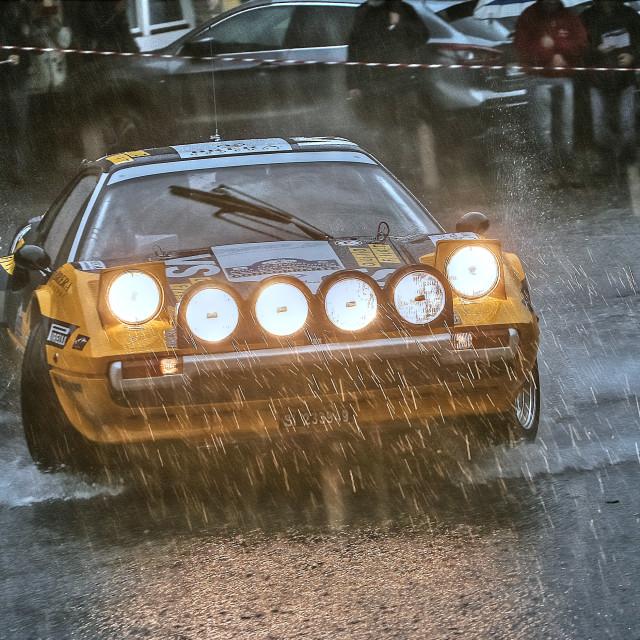"""Ferrari 308 GTB (Group B rally car)"" stock image"
