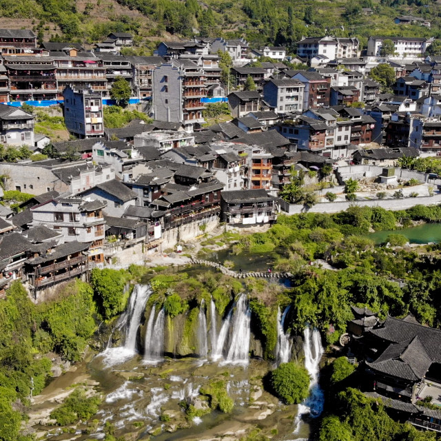 """Furong ancient town"" stock image"