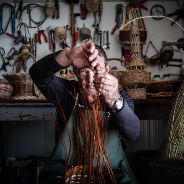 """The Wicker - Amiata Arts & Crafts"" stock image"