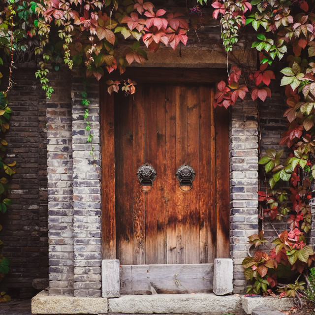 """Vintage Chinese Door"" stock image"