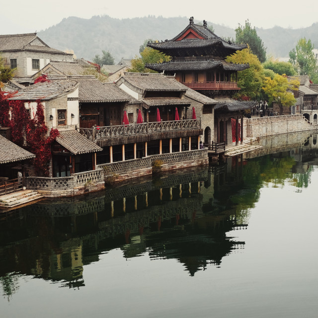 """""""Gubei Water Town"""" stock image"""