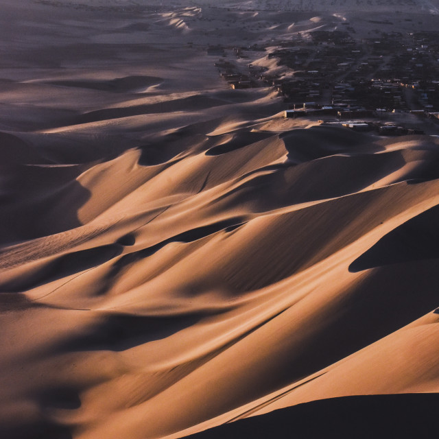 """Golden hour in the desert"" stock image"