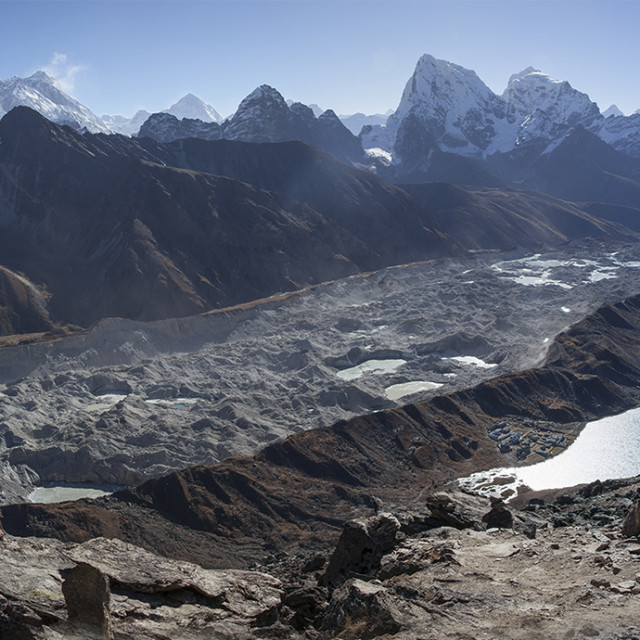 """Everest from Gokyo Ri"" stock image"