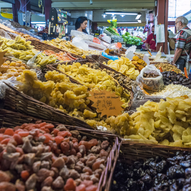 """""""The Friday market in Ventimiglia, Italy, Europe."""" stock image"""