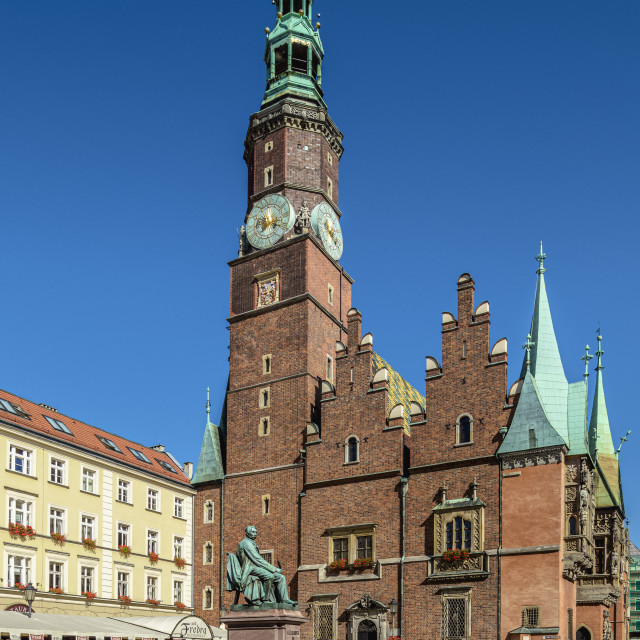 """""""Old Town Hall, Market Square, Wroclaw, Lower Silesian Voivodeship, Poland"""" stock image"""