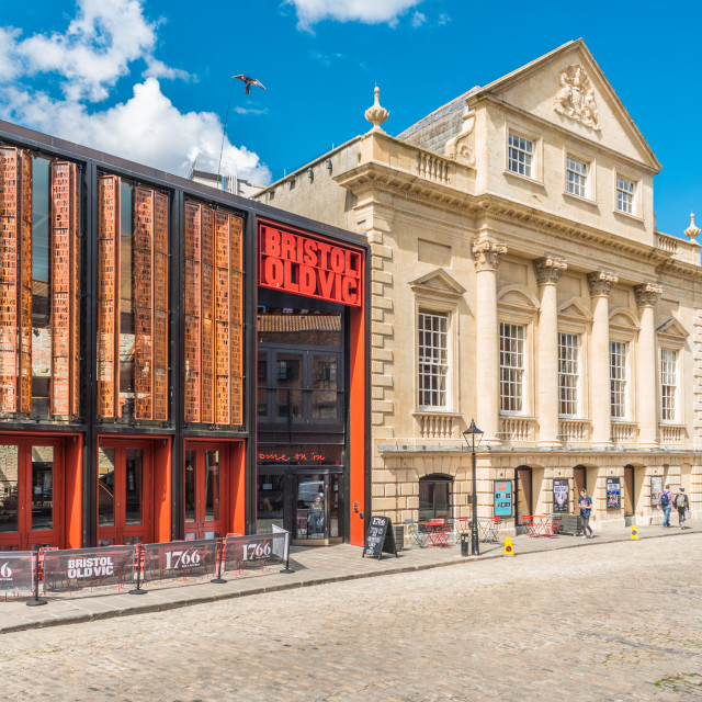 """""""Bristol Old Vic is a British theatre company based at the Theatre Royal on..."""" stock image"""
