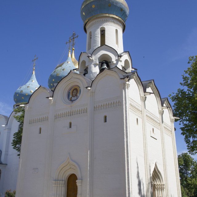 """Holy Spirit Church, The Holy Trinity St Sergius Lavra, UNESCO Site, Sergiev..."" stock image"