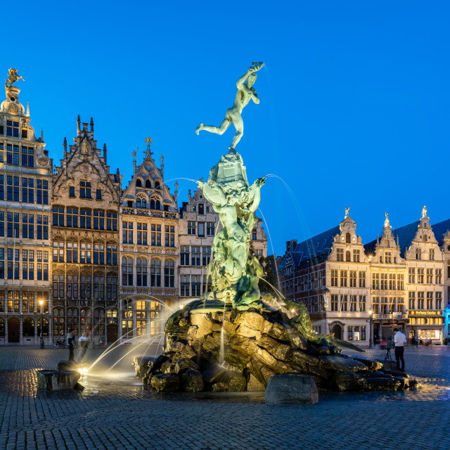 """The Grote Markt in the historic centre or Antwerp, Belgium."" stock image"