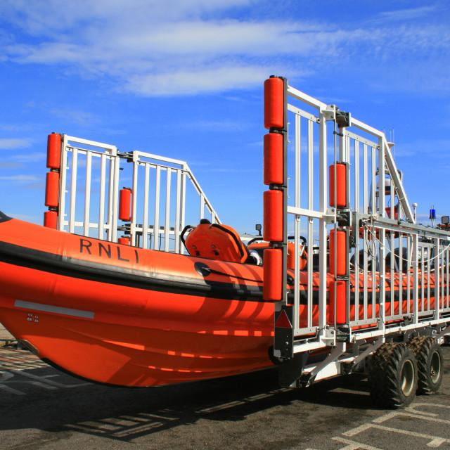 """Redcar lifeboat, 2012"" stock image"