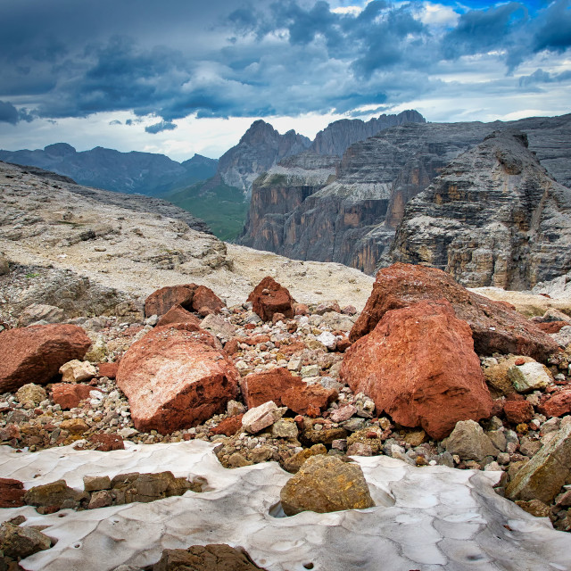 """Red mountain rocks"" stock image"