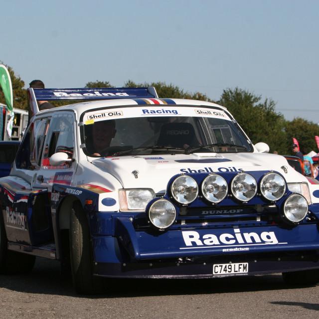 """Racing - 6R4 MG Metro"" stock image"