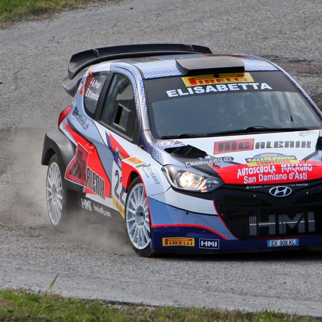 """Hyundai i20 rally Car"" stock image"