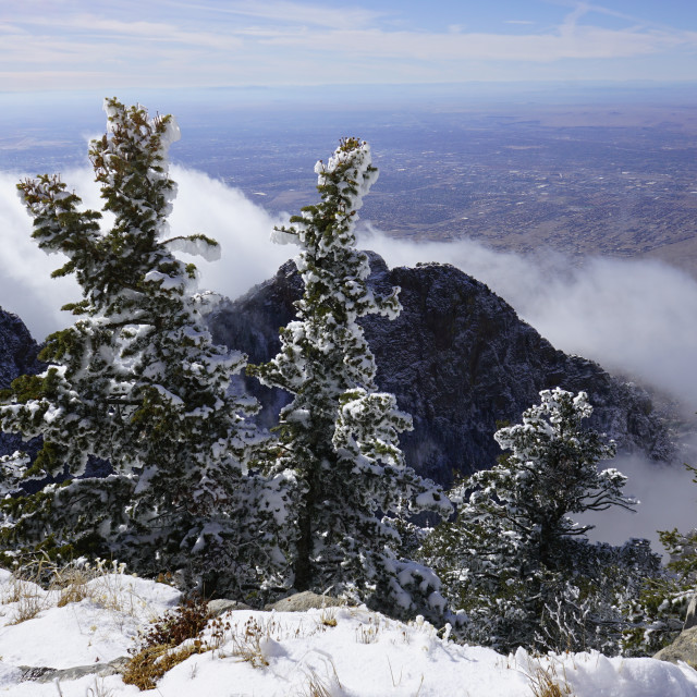"""Sandia Mountains 11/23/2019"" stock image"