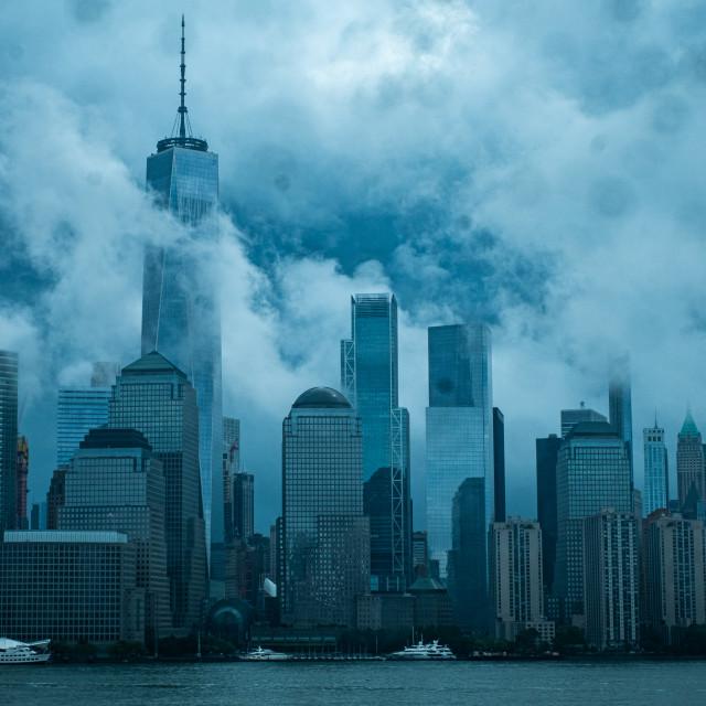 """Cloudy New York City"" stock image"