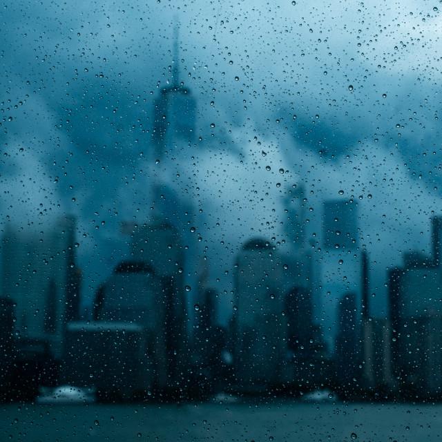 """Rainy New York City"" stock image"