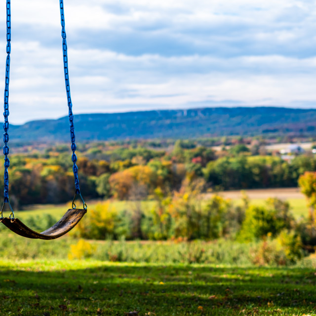 """""""Swing in the fall"""" stock image"""