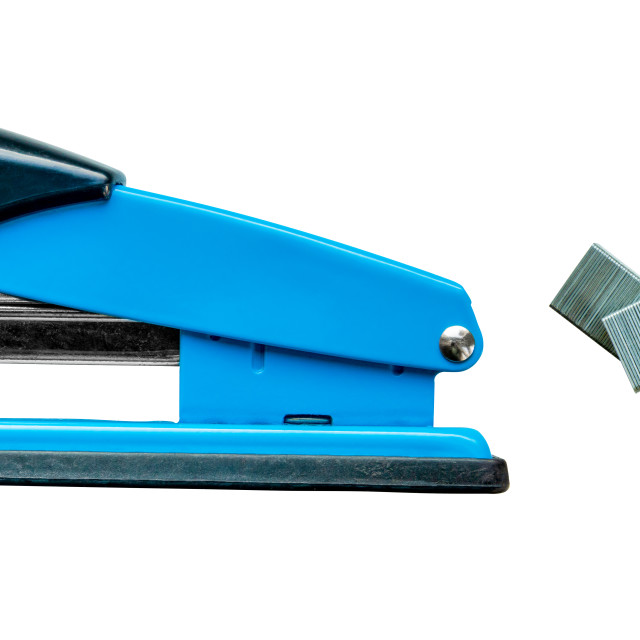 """""""Isolated Stapler And Staples"""" stock image"""