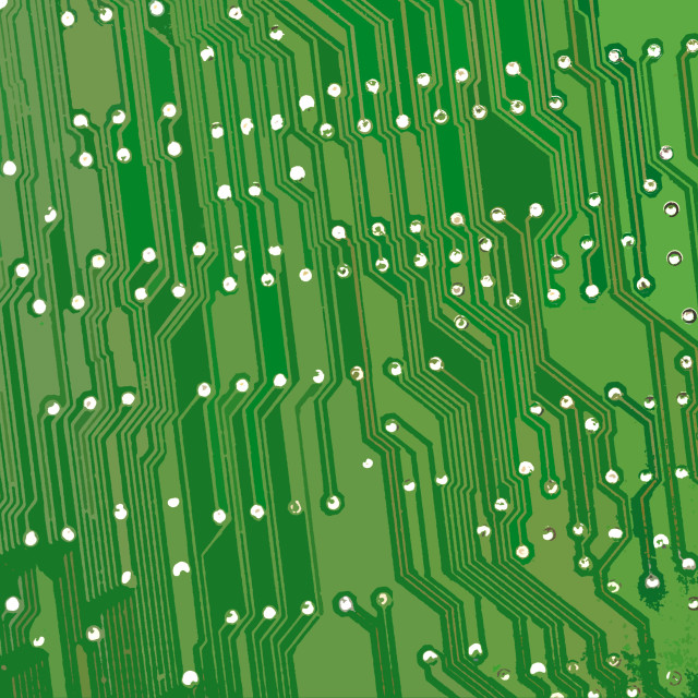 """Electronic board green tracks"" stock image"