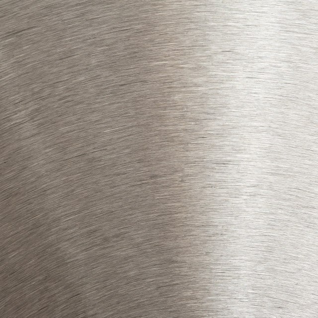 """Close up detail of a brushed steel surface"" stock image"
