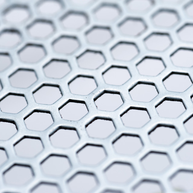 """Background texture of hexagonal mesh"" stock image"
