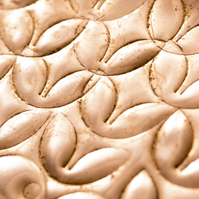 """Background pattern and texture of pressed copper"" stock image"