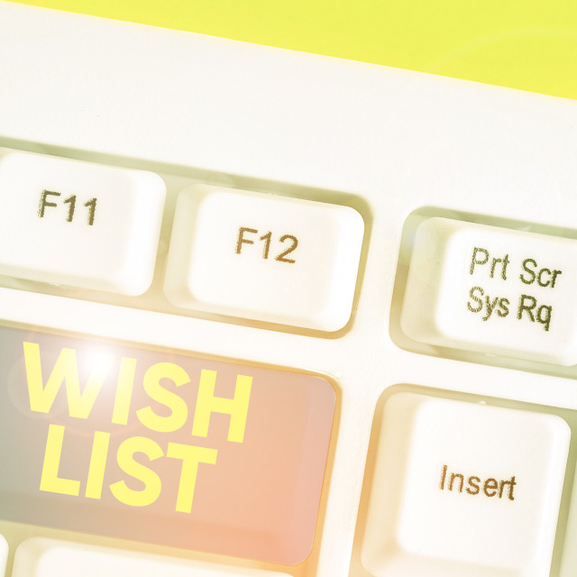"""Conceptual hand writing showing Wish List. Business photo text List of..."" stock image"