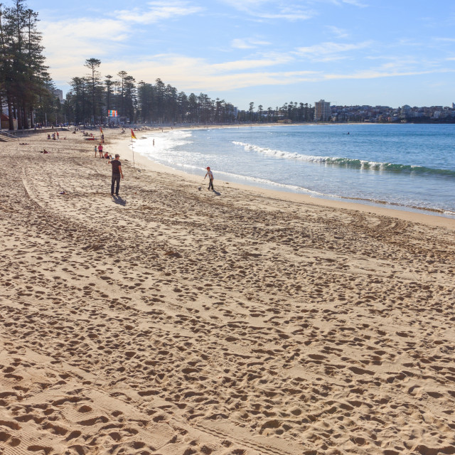 """""""Manly beach in strong sunlight"""" stock image"""