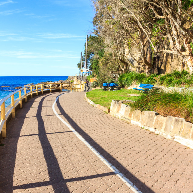 """""""Promenade from Manly to Shelly beach"""" stock image"""