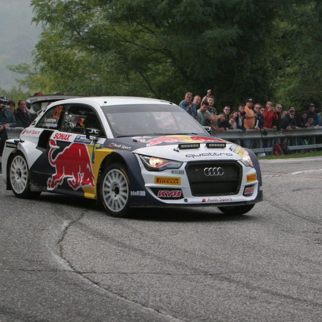 """Audi Quattro Rally"" stock image"